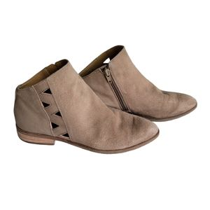 LUCKY BRAND Jakeela Suede Ankle Cut Out Booties 6M